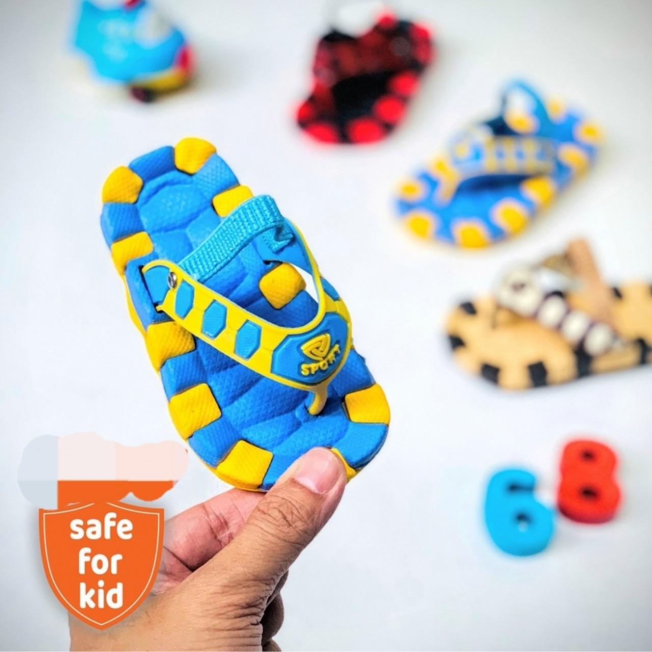 Giá bán Dép kẹp trẻ em cho bé trai bé gái từ 1-5 tuổi dễ thương - Dép kẹp trẻ em
