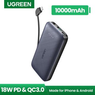 Sạc dự phòng mini UGREEN Dung lượng thực 10000mAh MFI 18W PD Sạc nhanh cho iPhone 18W thumbnail