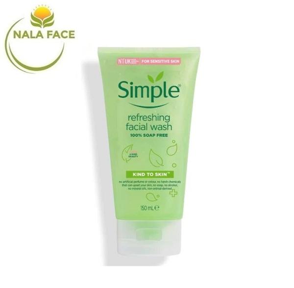 [MẪU MỚI] Sữa Rửa Mặt Dạng Gel Simple Refreshing (150ml) nhập khẩu