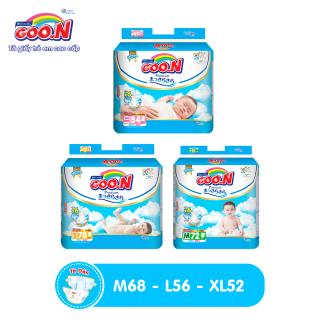 Thùng 3 bịch Tã dán Goo.N Premium cao câp gói siêu đại size M72 khả năng thấm hút gấp 6 lần, siêu khô thoáng thumbnail