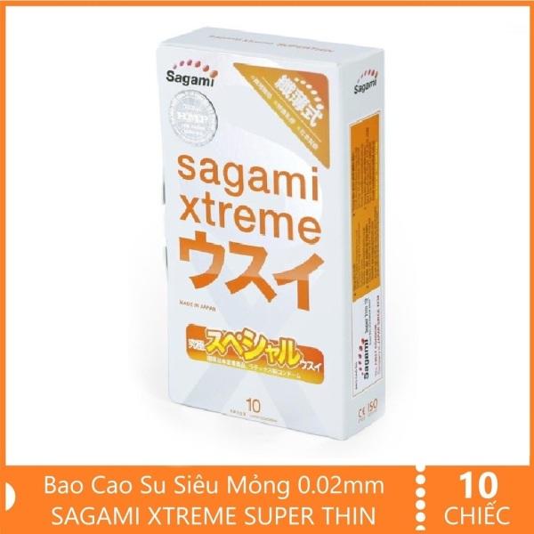 Bao Cao Su Siêu mỏng 10 chiếc Nhật Bản Sagami Xtreme Super Thin - Nhật Bản