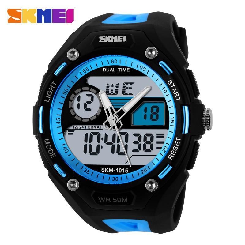 Đồng hồ thể thao nam Skmei 1015 chống nước lên đến 5ATM có đèn Led xem buổi tối(Có bảo hành) bán chạy