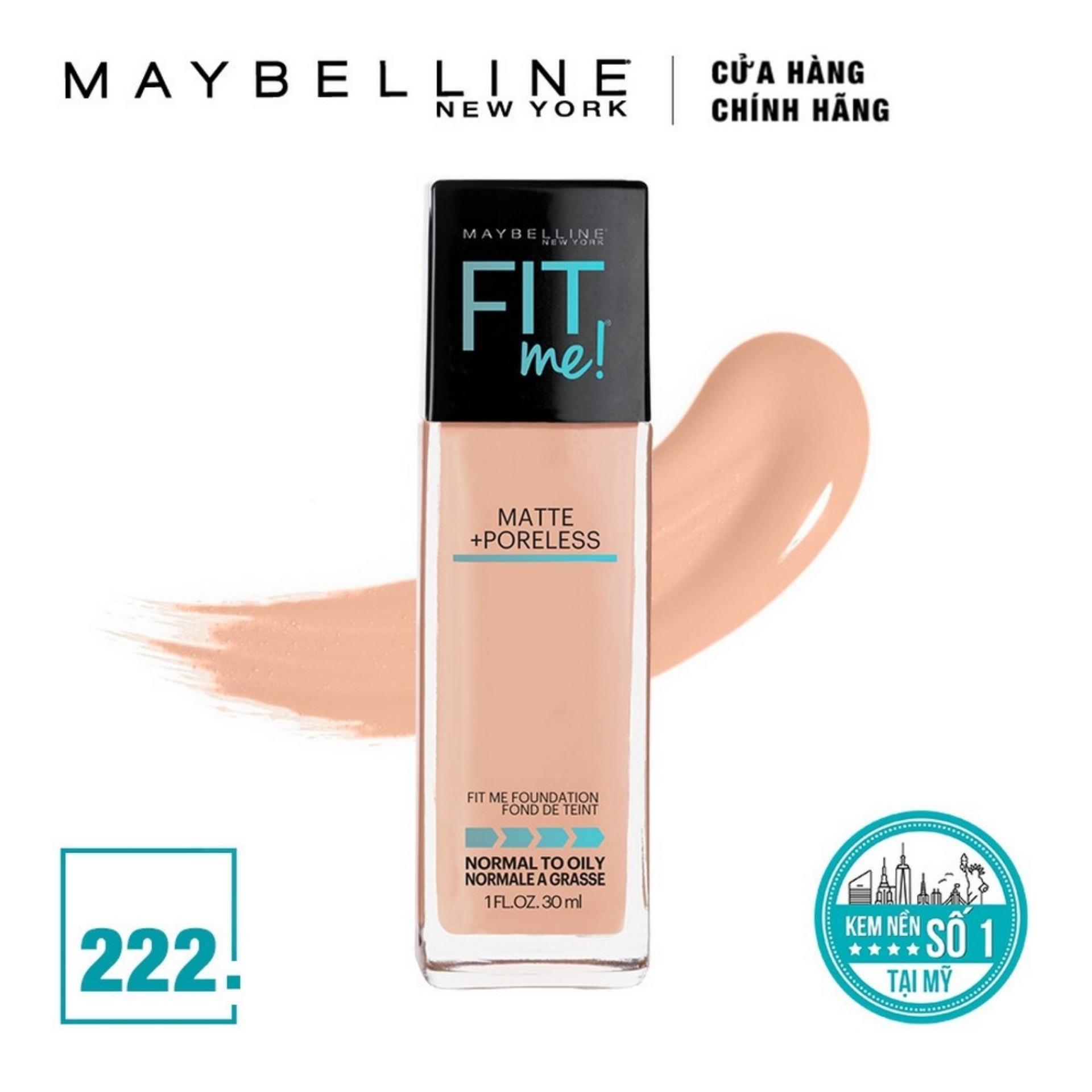 Kem Nền Lì Tự Nhiên Maybelline New York Fit Me Matte Poreless Foundation 30ml nhập khẩu