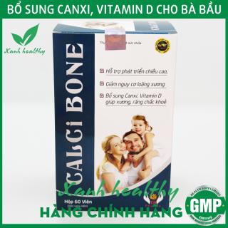 Viên uống bổ sung canxi CALCIBONE - Bổ sung Canxi, Vitamin D3. MK2 giúp phát triển chiều cao, ngừa loãng xương hiệu quả - Hộp 60 viên thumbnail