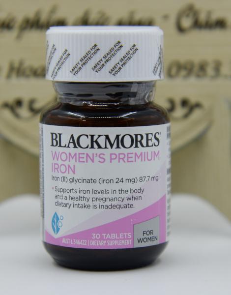 Sắt Bà Bầu [Úc] Blackmores Iron Pregnancy - Lọ 30 Viên - Mẫu mới 2021 cao cấp