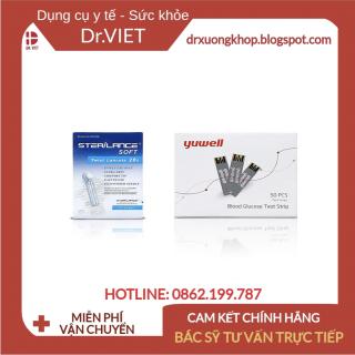 Que thử đường huyết Yuwell 710 (1 hộp 50 que+1 hộp 50 kim)-Giúp theo dõi và kiểm tra lượng đường huyết thật nhanh chóng thumbnail