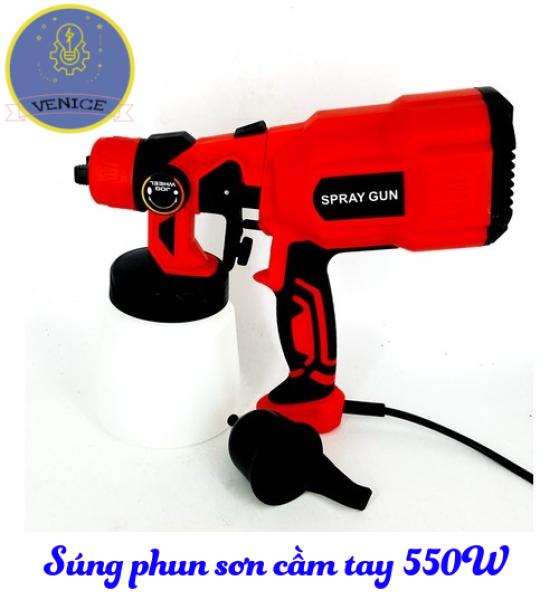 Súng phun sơn cầm tay VENICE- Dùng điện 220V - Công suất 550W - Bảo hành 12 tháng