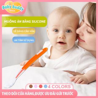 Muỗng tập ăn cho bé DUOLADUOBU - màu sắc ngọt ngào với chất liệu slicone an toàn - muỗng cho bé tập ăn có thể uốn cong để chơi, muỗng ăn dặm đa sắc màu cho bé yêu thumbnail
