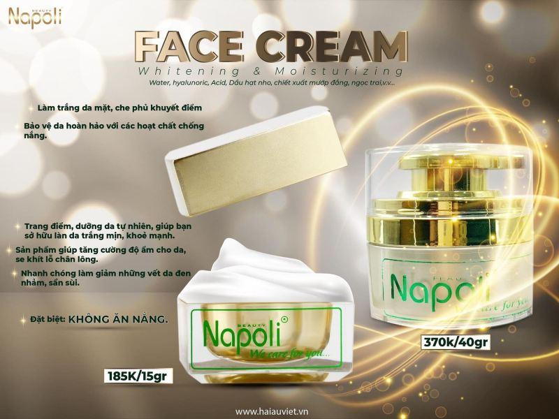 Kem Face Sữa Napoli Hải Âu Việt (cỡ to 40gam) giá rẻ