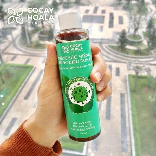 Nước súc miệng dược liệu Rona CoCayHoaLa - Không cồn - Khử mùi - Kháng Khuẩn - Ngăn ngừa vi khuẩn có hại - Mẹ bầu và trẻ nhỏ dùng được, chai 150ml - Hàng chính hãng giá rẻ