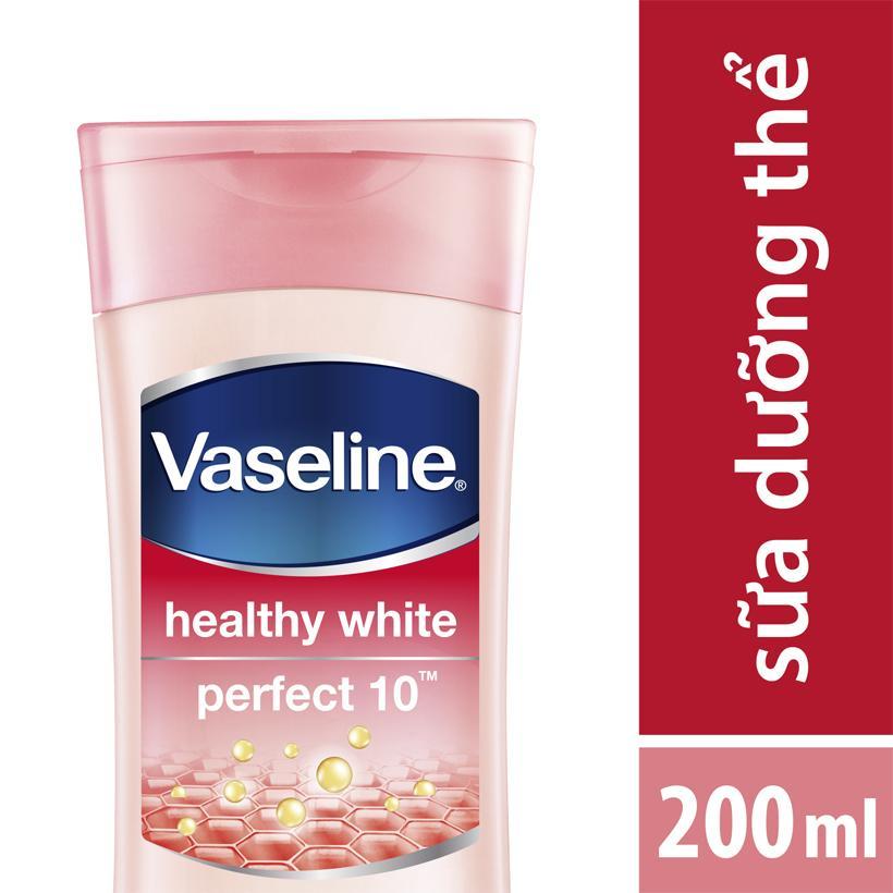 Sữa Dưỡng Thể Vaseline Trắng Da Điểm 10 (200ml) cao cấp
