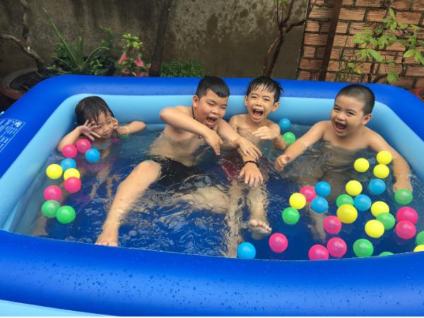 [XẢ KHO CHÀO HÈ ] Bể bơi chữ nhật 2 tầng dài 1.2m đế dày chống trượt, bể bơi 3 tầng 1.2m đế dày chống trượt, PHAO TẮM HÌNH THÚ CHO BÉ, Bồn tắm trẻ em bơm hơi 1m2 - Bể bơi phao hình chữ nhật, Bể bơi, Bồn tắm, Bình chứa nước