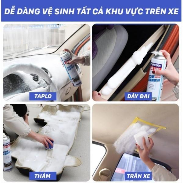 Bọt vệ sinh đa năng nội thất ô tô, xe hơi, các bề mặt