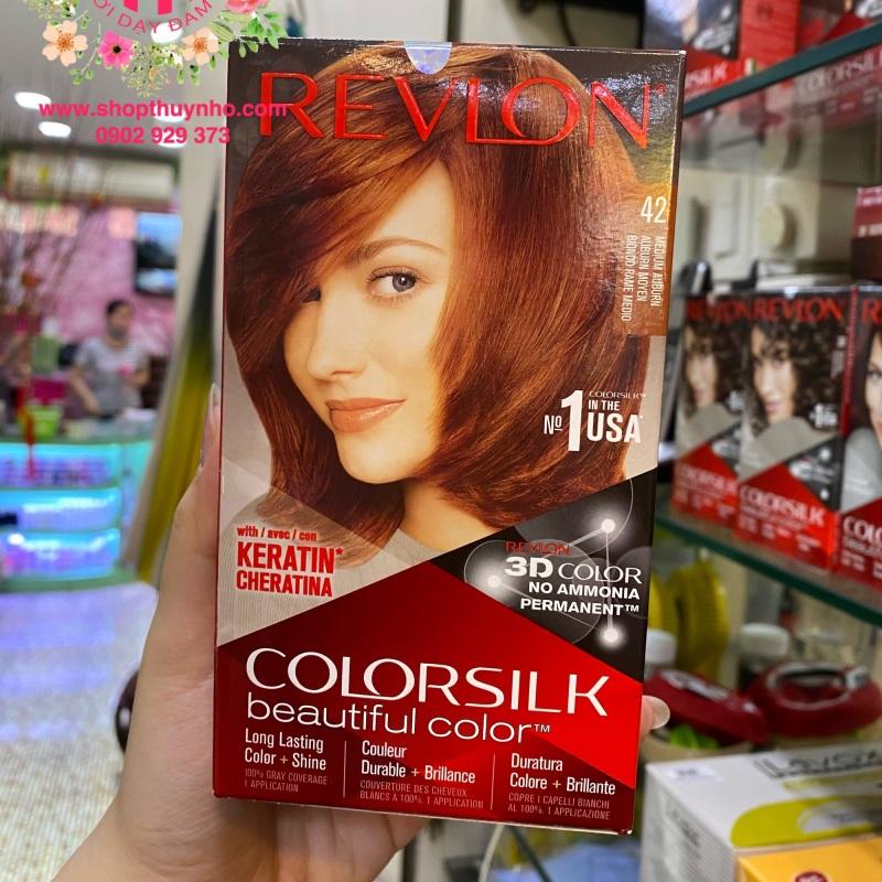 Thuốc nhuộm tóc Revlon ColorSilk số 42 - Nâu đỏ vừa nhập khẩu