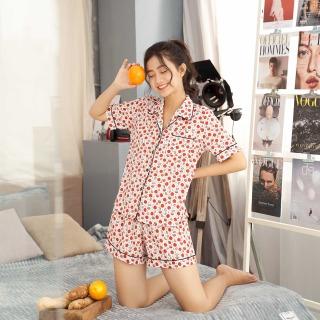 Bộ đồ pijama nữ hàng thiết kế họa tiết xinh xắn VIBES Red Lemon Py Set thumbnail