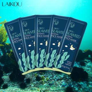 [3 miếng] Mặt nạ dưỡng da tinh chất tảo biển LAIKOU mặt nạ ngủ rong biển tái tạo phục hồi da mặt nạ chống lão hóa da mặt nạ ngủ dưỡng ẩm IW-MN213 thumbnail