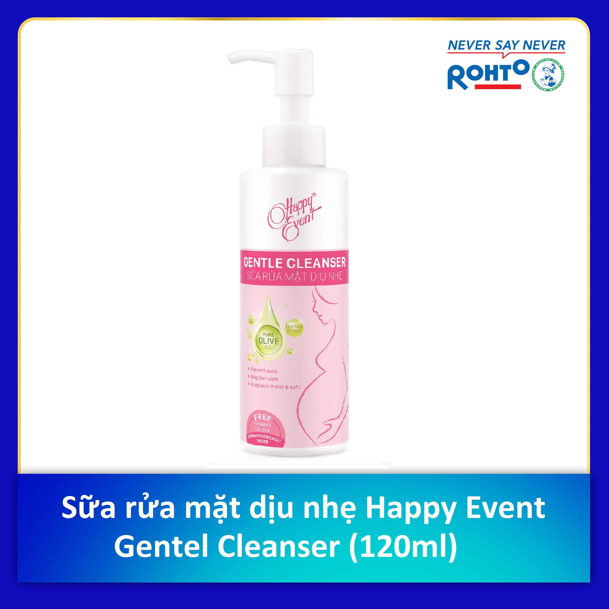 Sữa rửa mặt dịu nhẹ Happy Event Gentle Cleanser 120ml