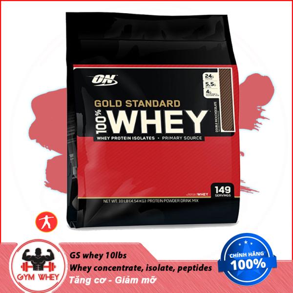 [Lấy mã giảm thêm 30%]Sữa Tăng Cơ Bắp ON Optimum Nutrition Gold Stardard 100% Whey 10 Lbs (4.6kg) giá rẻ