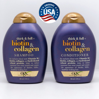 Bộ Dầu Gội Biotin Collagen Dầu Xả Biotin Collagen 385ml Chống Rụng Tóc, Cấp Dưỡng Chất, Phục Hồi Tóc Hư Tổn của Mỹ thumbnail