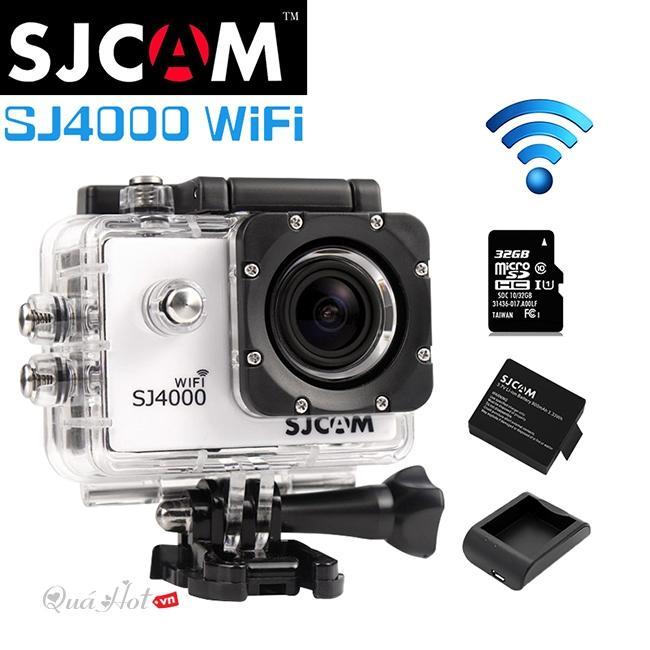 Camera Mini, Camera Siêu Nét, Cam Hành Trình, Camera Hành Trình SJCAM SJ4000 Wifi 2 Inch, Hỗ Trợ Ghi Âm, Chống Rung - Chống Nước Cực Tốt, SALE 50%
