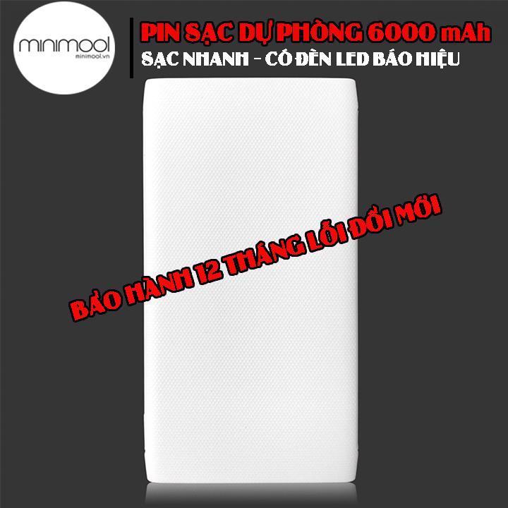 Giá Pin Sạc Dự Phòng 6000 mAh Earldom PB-11 Quick Charge 3.0 Hỗ Trợ Sạc Nhanh Thiết Kế Siêu Mỏng Sạc 2.5 Lần Cho Iphone 6s - Bảo Hành 12 Tháng Lỗi 1 Đổi 1