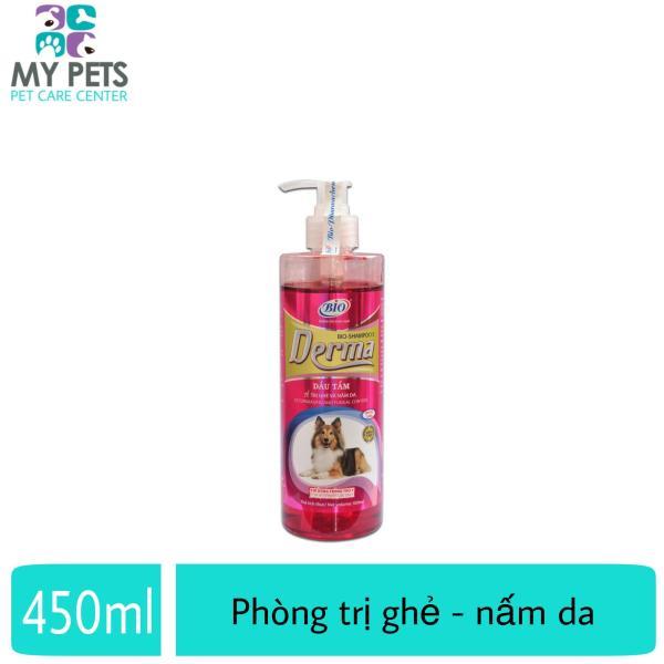 Sữa tắm ve ghẻ, nấm da cho chó mèo - Bio Derma Premium 450ml