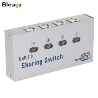 Blesiya Công Tắc Chọn Chia Sẻ Tự Động USB 2.0 Trung Tâm KVM 4 Cổng, Cho Máy In Máy Quét PC thumbnail