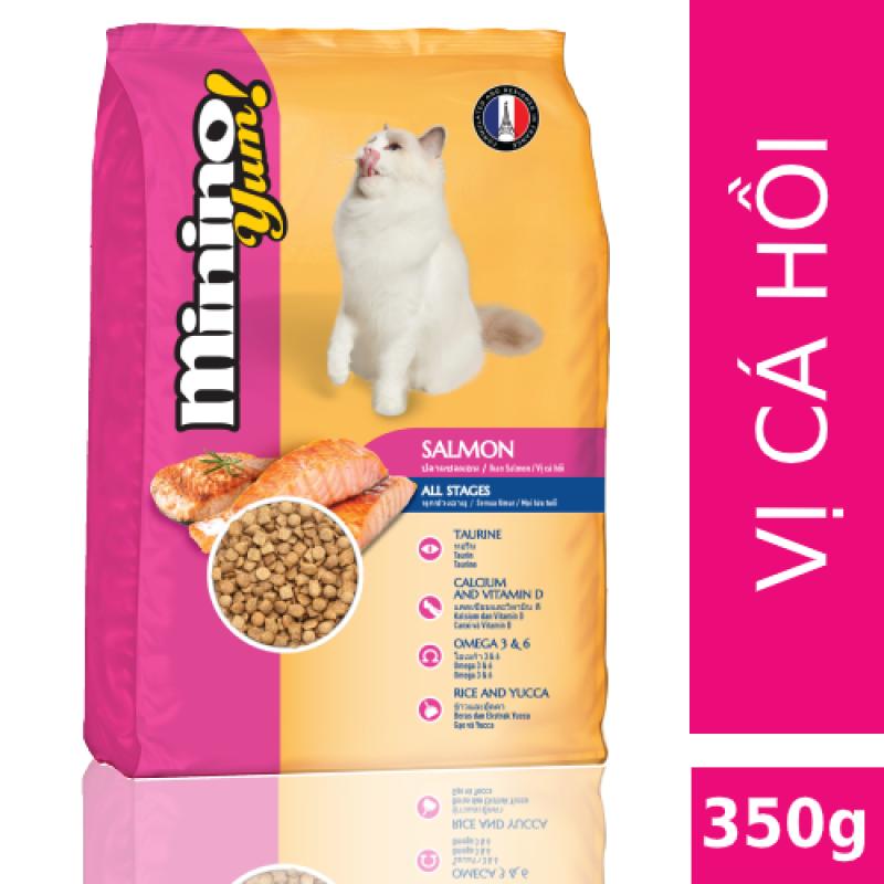 [Mới] Thức ăn cho mèo Minino Yum Salmon 350gr