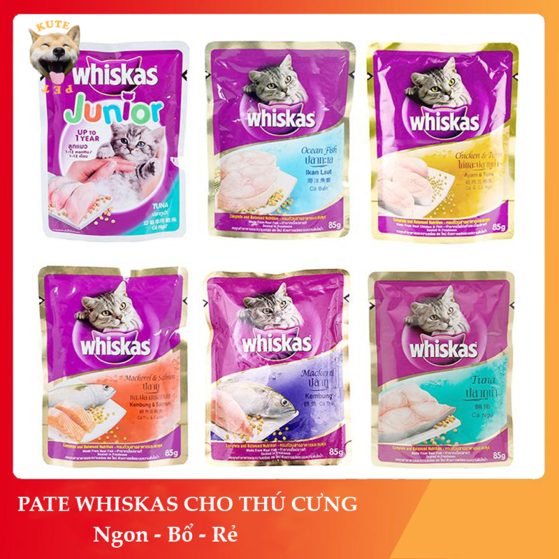 Thức ăn Pate Whiskas dành cho mèo 85gram