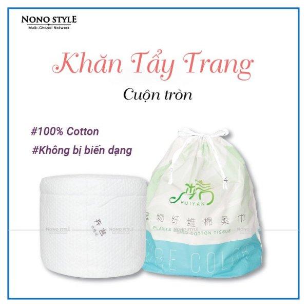 Khăn giấy tẩy trang, bông tẩy trang cotton dạng cuộn đa năng Huiyan chất liệu 100% ogarnic, khăn mặt nữ tác dụng tẩy trang sạch hơn bông tẩy trang thông thường có thể tái sử dụng bằng cách giặt sạch, không bị bục cao cấp