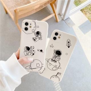 Ốp lưng iphone vuông cạnh hình astronaunt dành cho iphone 6 đến 12promax e02 shincase thumbnail