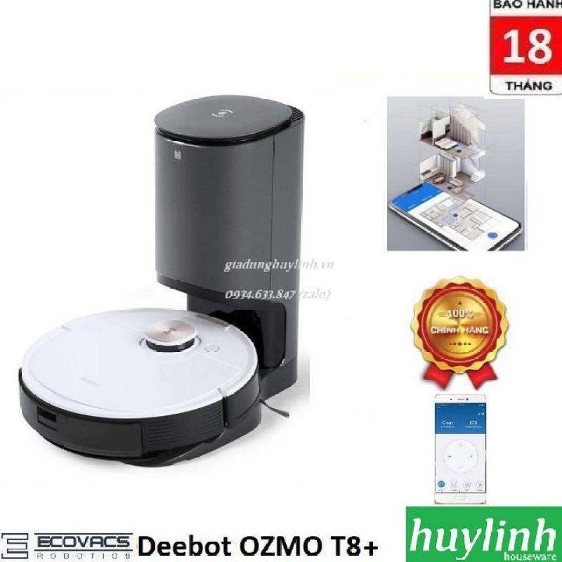 Robot hút bụi lau nhà Ecovacs Deebot OZMO T8+ - Bản Quốc Tế - Chính hãng