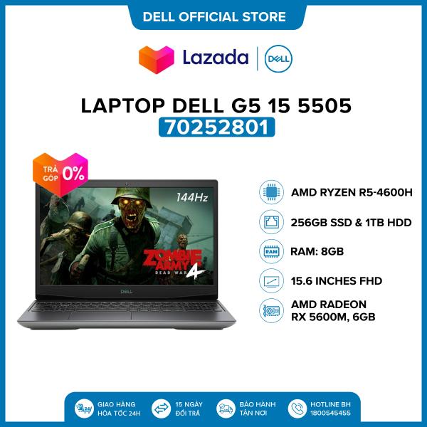Bảng giá [VOUCHER 500K] Laptop Dell G5 15 5505 15.6 inches FHD (AMD Ryzen R5-4600H / 8GB / 512GB SSD / AMD Radeon RX 5600M, 6GB / OfficeHS19 / McAfeeMDS / Win 10 Home SL) l Silver l 70252801 l HÀNG CHÍNH HÃNG Phong Vũ