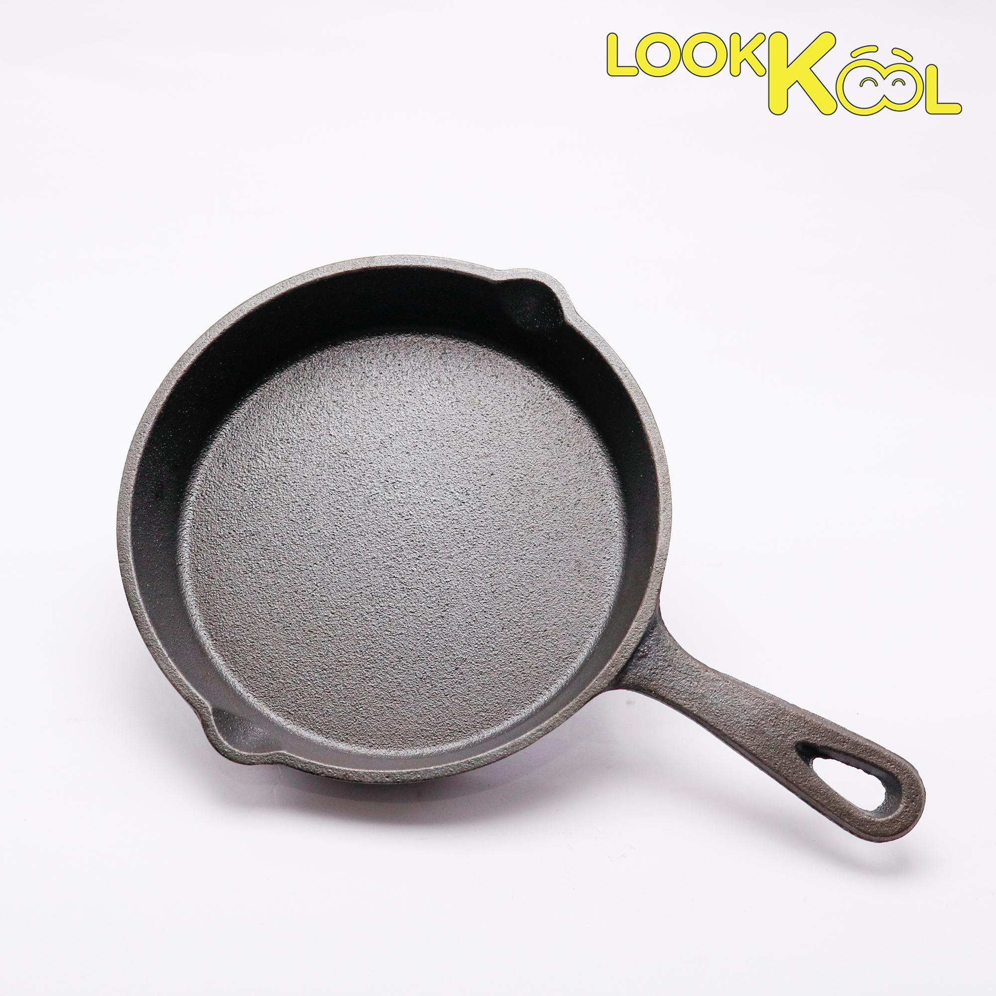 Chảo gang chiên rán nướng xào không dính - CAST IRON bếp từ 15.5cm