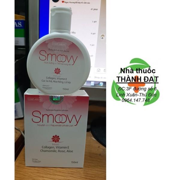 Smoovy dung dịch vệ sinh phụ nữ chai 150ml smovy, cam kết hàng đúng mô tả, chất lượng đảm bảo an toàn đến sức khỏe người sử dụng