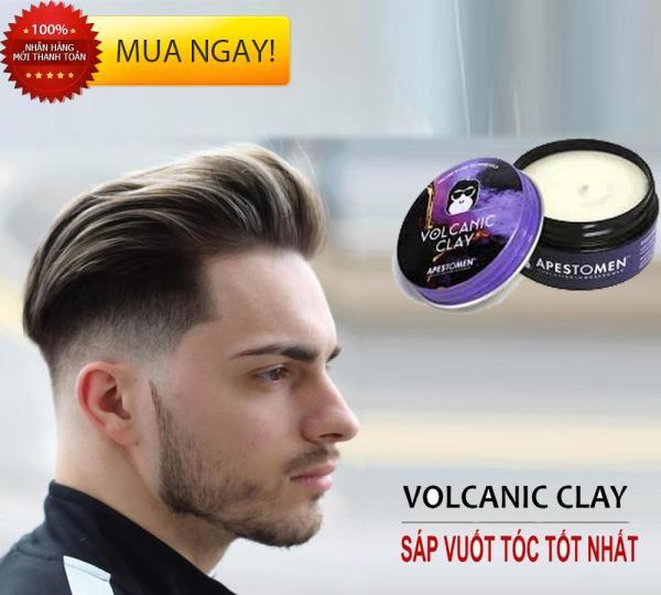 Sáp vuốt tóc giữ nếp lâu [TẶNG KHẨU TRANG KHÁNG KHUẨN 4 LỚP XỊN] , Sáp vuốt Tóc Nam Volcanic Clay Apestomen Hương Thơm Nam Tính giá rẻ