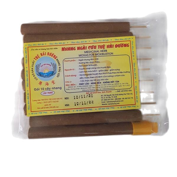 Nhang ngải cứu Tuệ Hải Đường (gói 10 cây nhang loại trung) nhập khẩu