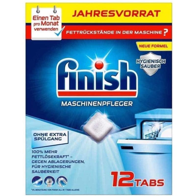 Viên tẩy cặn máy rửa bát Finish Jahres Vorrat (hộp 12 viên)
