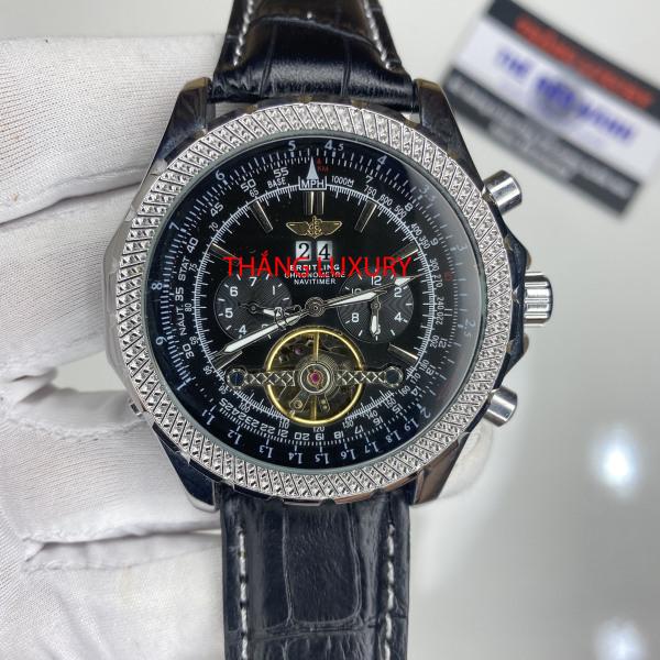 [Máy cơ + BH 12 tháng] Đồng hồ nam B.R.E.T.I.N.G dành cho PHI CÔNG - size 43, trữ cót 90 tiếng, dây da cá sấu nguyên miếng bán chạy