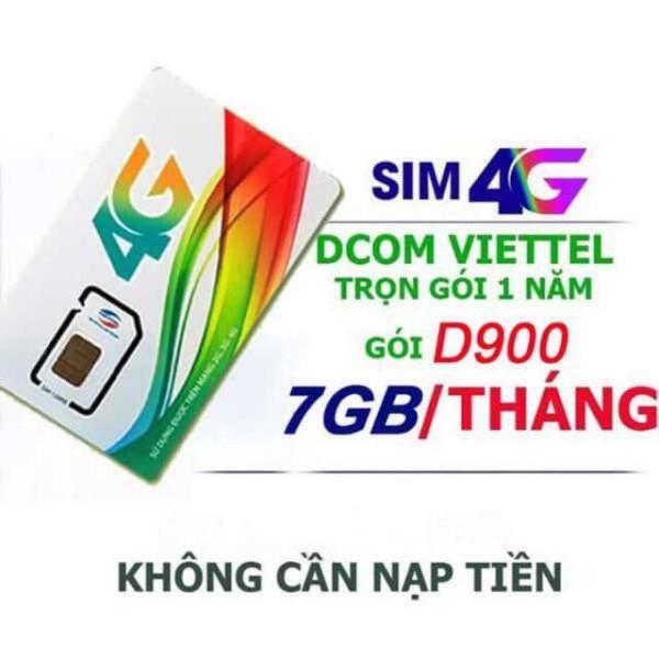Bảng giá 4G Viettel D900 Miễn phí 12 tháng sử dụng (7GB/THÁNG) x 12 tháng.Trọn gói 1 năm không nạp tiền Phong Vũ