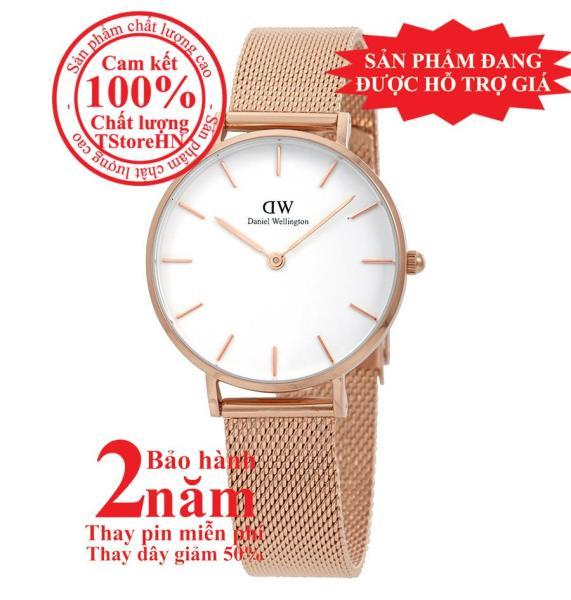 Đồng hồ nữ D.W Classic Petite Melrose 32mm - Màu vàng hồng (Rose Gold), mặt trắng (White) DW00100163