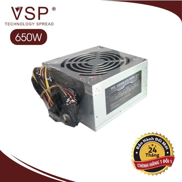 Bảng giá [Chính Hãng] Nguồn VSP 650W Full Box - Kèm Dây Nguồn Bảo Hành 24 tháng Phong Vũ
