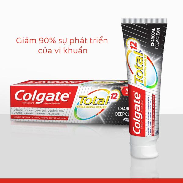 Bộ 2 Kem đánh răng Colgate giảm chảy máu nướu Total than hoạt tính 35g/tuýp [HSD 01/2022] cao cấp