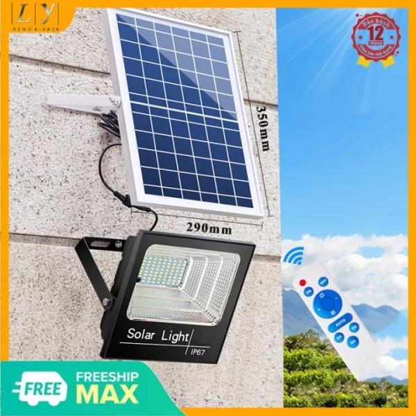 Bảng giá Đèn LED năng lượng mặt trời 20W-30W-60W-100W-200W Ánh sáng trắng Có điều khiển từ xa tiện lợi và thông minh Thân Vỏ Nhôm Tiêu chuẩn chống nước và chống bụi IP67