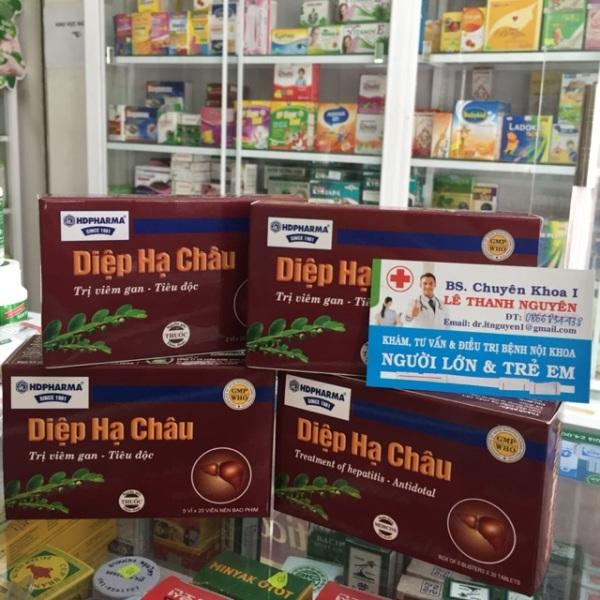 (cao cấp)Diệp Hạ Châu 100viên-viên uống giải độc gan cao cấp