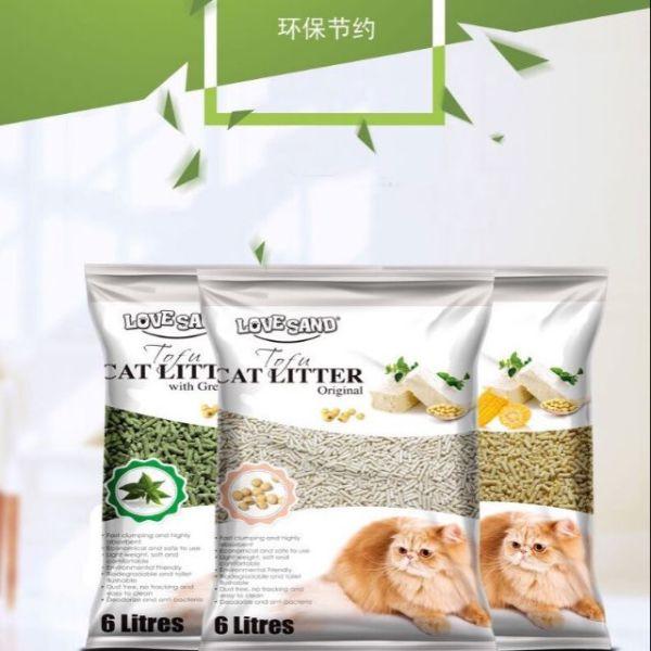 Cát gỗ vệ sinh tofu love sand khử mùi cho mèo hiệu quả-hút cực nhanh