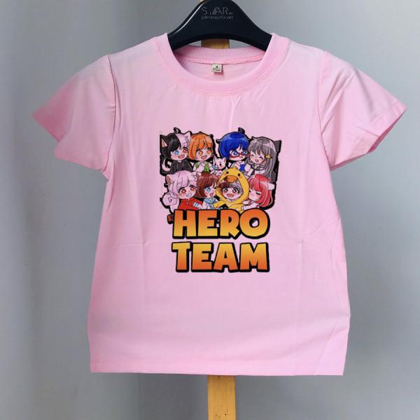 [sĩ] áo SỮA HERO TEAM cho bé trai bé gái chất đẹp đủ size