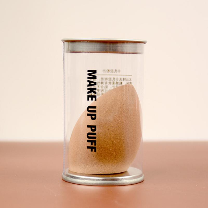 Mút trang điểm hình giọt nước vát chéo có hộp đựng - giao màu ngẫu nhiên