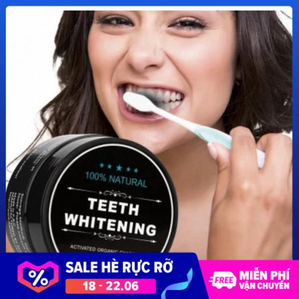 [M] Bột tẩy trắng răng than tre hoạt tính - chất làm trắng răng bảo vệ men răng – chăm sóc răng miệng – kem đánh răng cao cấp 30g – bột khử mùi hôi răng miệng hiệu quả cấp tốc – hiệu quả cấp tốc sau 3 giá rẻ