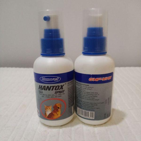 Hantox spray đặc trị ve rận ở chó